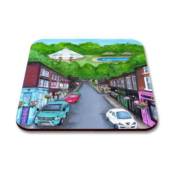 Jo Gough - Lark Lane St Scene Liverpool Coaster