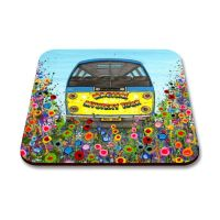 Jo Gough - The Beatles Magical Mystery Tour Bus with flowers Coaster