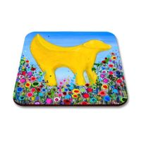 Jo Gough - Lambanana Liverpool with flowers Coaster