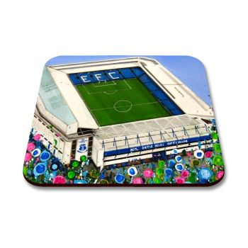 Jo Gough - EFC Goodison Stadium with flowers Coaster