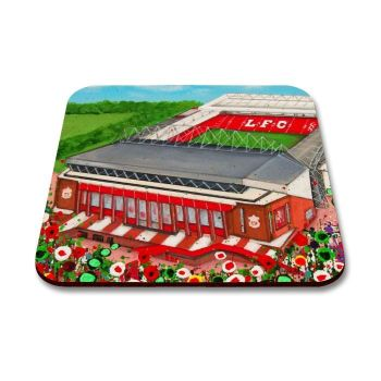 Jo Gough - LFC Stadium with flowers Coaster