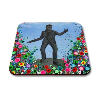 Jo Gough - Billy Fury with flowers Coaster