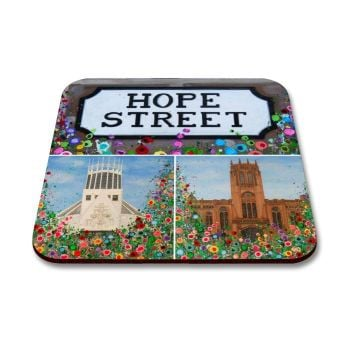 Jo Gough - Liverpool Cathedral Montage with flowers Coaster