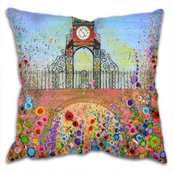 Jo Gough - Chester Clock with flowers Cushion