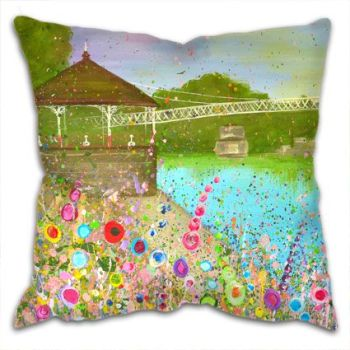 Jo Gough - The Groves Chester with flowers Cushion