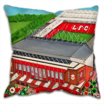 Jo Gough - LFC Stadium with flowers Cushion