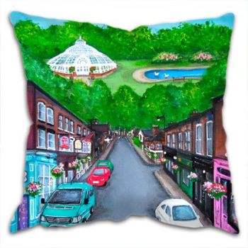 Jo Gough - Lark Lane Street Scene Liverpool Cushion