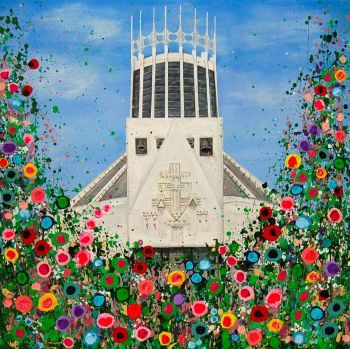 """Catholic Cathedral Canvas Print"" From £85"