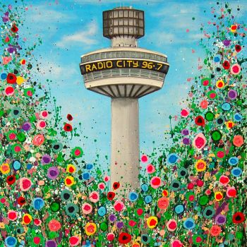 """Radio City Tower Canvas Print"" From £85"