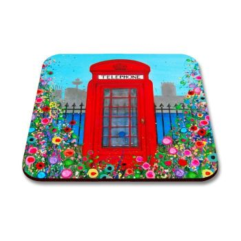 """Red Telephone Box"" Coaster"