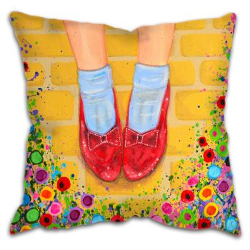 """The Ruby Slippers"" Cushion"