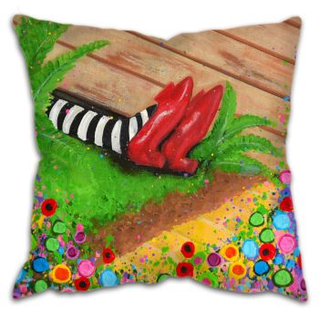 """The Wicked Witch of the East"" Cushion"