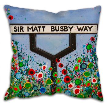 """Sir Matt Busby Way"" Cushion"