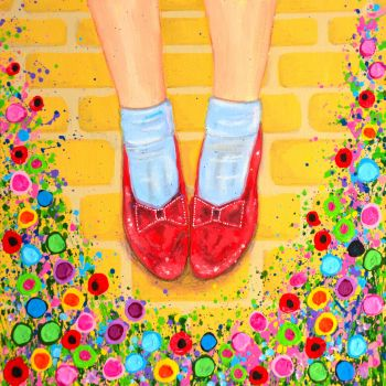 """Ruby Slippers Canvas Print"" From £85"