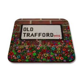 Jo Gough - MUFC Old Trafford St Sign with flowers Coaster