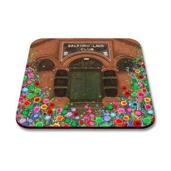 Jo Gough - Salford Lads Club Manchester with flowers Coaster
