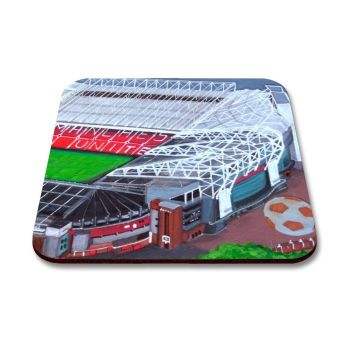 """Old Trafford Stadium - Plain"" Coaster"
