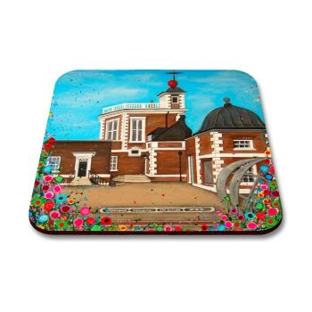 Jo Gough - The Observatory Greenwich with flowers Coaster