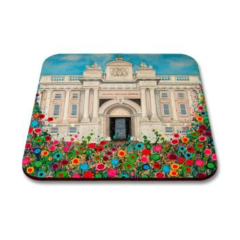 Jo Gough - National Maritime Museum Greenwich with flowers Coaster