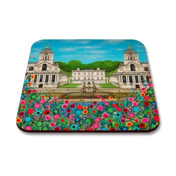 Jo Gough - Royal Naval College Greenwich with flowers Coaster