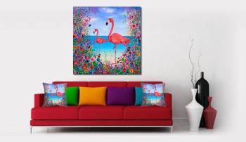 """Flamingo Canvas Print"" From £85"