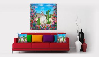 """Llama Canvas Print"" From £85"