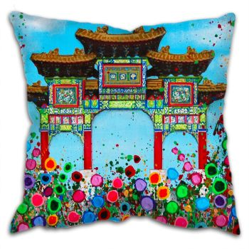 """Chinese Arch"" Cushion"