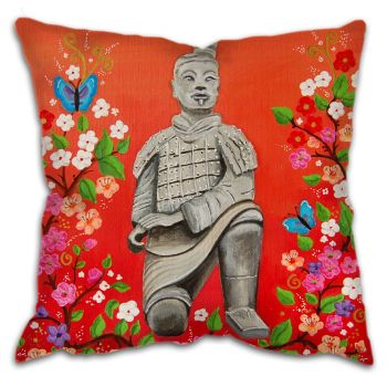 """Terracotta Warrior"" Cushion"