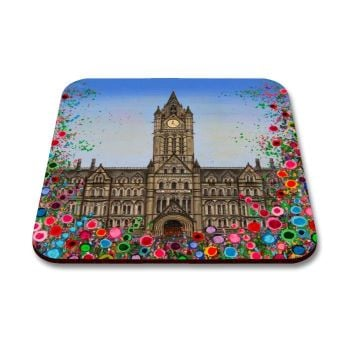 Jo Gough - Manchester Town Hall with flowers Coaster