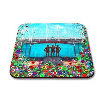 Jo Gough - MUFC Old Trafford Stadium with flowers Coaster