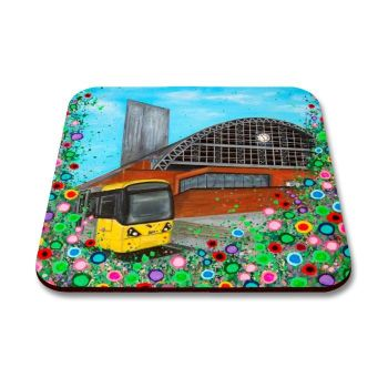 Jo Gough - GMEX Manchester with flowers Coaster