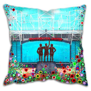 Jo Gough -  MUFC Old Trafford Stadium with flowers Cushion