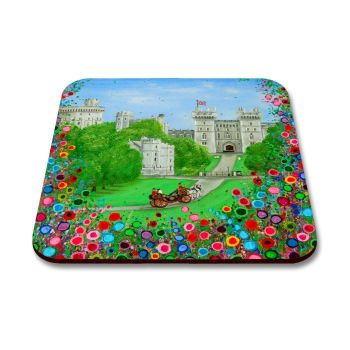 Jo Gough - Windsor Castle London with flowers Coaster