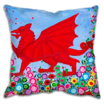 """Welsh Dragon"" Cushion"