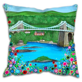 """Menai Bridge"" Cushion"