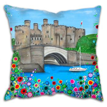 """Conwy Castle"" Cushion"