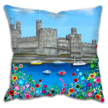 """Caernarfon Castle"" Cushion"