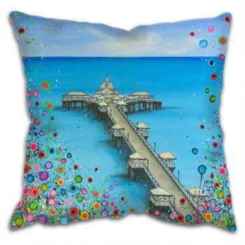 """""""Llandudno Pier"""" Cushion"""