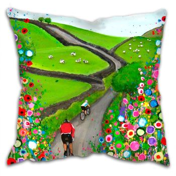 """Cycling in the Countryside"" Cushion"