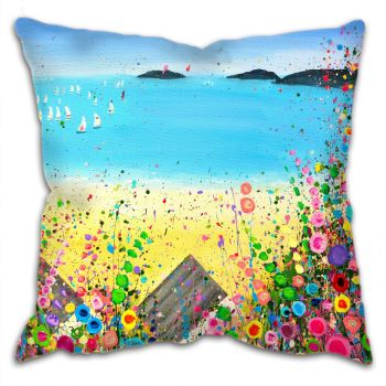 """Abersoch Beach"" Cushion"
