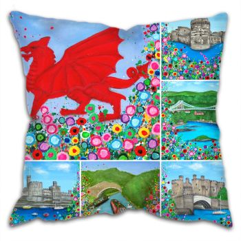 """North Wales Montage"" Cushion"