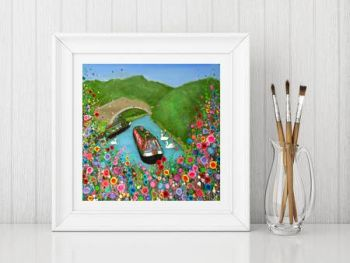 """Canal Boat Print"" From £10"