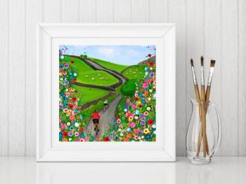 """Cycling in the Countryside Print"" From £10"