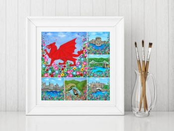"""North Wales Montage Print"" From £10"