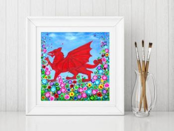 """Welsh Dragon Print"" From £10"