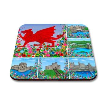 """Welsh Montage"" Coaster"