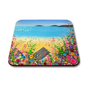 """Abersoch Beach"" Coaster"