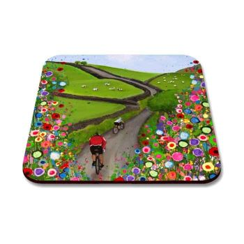 """Cycling the Countryside"" Coaster"