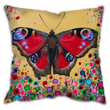 Jo Gough - Butterfly with flowers Cushion