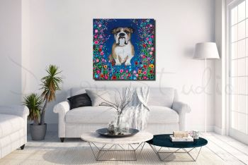 """""""Bull Dog Canvas Print"""" From £85"""